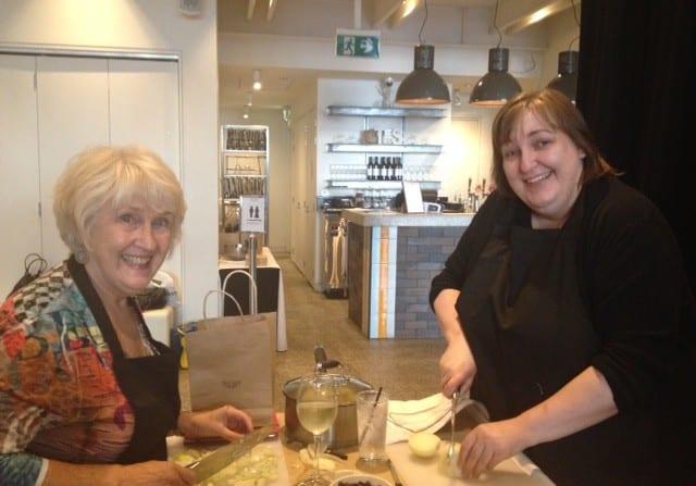 sarah and elaine cooking